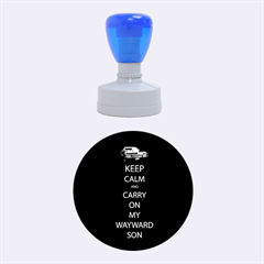 Keep Calm And Carry On My Wayward Son Medium Rubber Stamp (round)