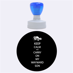 Carry On Centered Rubber Round Stamps (Large)
