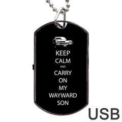 Carry On Centered Dog Tag USB Flash (One Side)