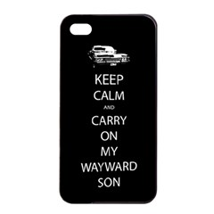 Carry On Centered Apple iPhone 4/4s Seamless Case (Black)