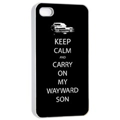 Carry On Centered Apple Iphone 4/4s Seamless Case (white)