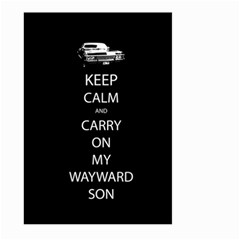 Keep Calm and Carry On My Wayward Son Large Garden Flag (Two Sides)