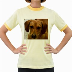Dachshund Women s Fitted Ringer T-Shirts