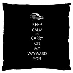 Keep Calm And Carry On My Wayward Son Standard Flano Cushion Case (two Sides)