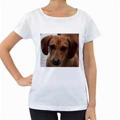 Dachshund Women s Loose-Fit T-Shirt (White)