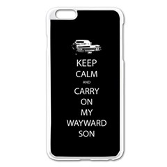 Carry On Centered Apple Iphone 6 Plus Enamel White Case
