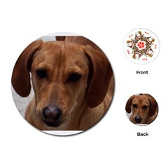 Dachshund Playing Cards (Round)