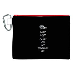 Carry On Centered Canvas Cosmetic Bag (XXL)