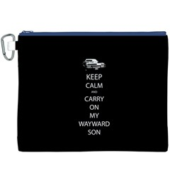 Carry On Centered Canvas Cosmetic Bag (XXXL)