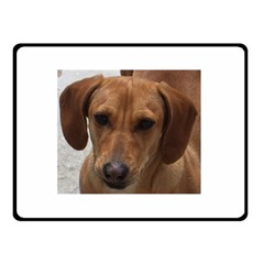 Dachshund Double Sided Fleece Blanket (Small)