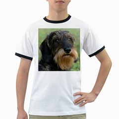 Wirehaired Dachshund Ringer T Shirts