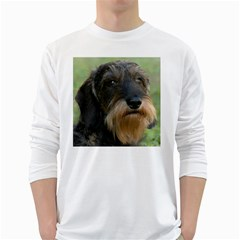 Wirehaired Dachshund White Long Sleeve T-Shirts