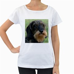Wirehaired Dachshund Women s Loose-Fit T-Shirt (White)