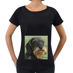 Wirehaired Dachshund Women s Loose Fit T Shirt (black)