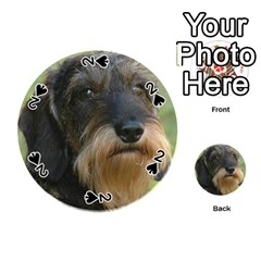 Wirehaired Dachshund Playing Cards 54 (Round)