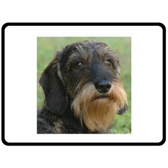 Wirehaired Dachshund Fleece Blanket (large)