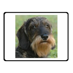Wirehaired Dachshund Fleece Blanket (Small)