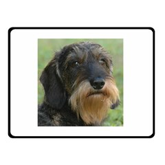 Wirehaired Dachshund Double Sided Fleece Blanket (small)