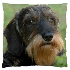 Wirehaired Dachshund Standard Flano Cushion Cases (Two Sides)