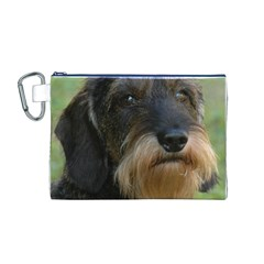 Wirehaired Dachshund Canvas Cosmetic Bag (M)