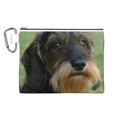 Wirehaired Dachshund Canvas Cosmetic Bag (L)