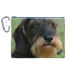 Wirehaired Dachshund Canvas Cosmetic Bag (XL)