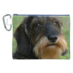 Wirehaired Dachshund Canvas Cosmetic Bag (XXL)