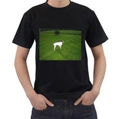 German Shorthair Pointer Full Men s T-Shirt (Black) (Two Sided)