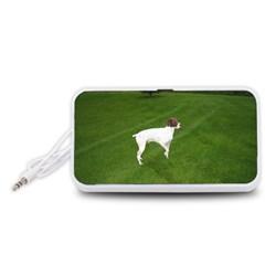 German Shorthair Pointer Full Portable Speaker (White)