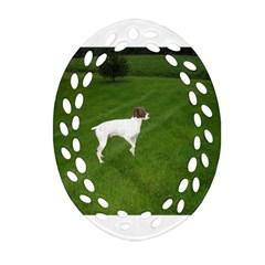 German Shorthair Pointer Full Oval Filigree Ornament (2-Side)