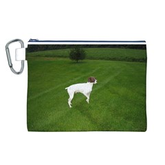 German Shorthair Pointer Full Canvas Cosmetic Bag (L)