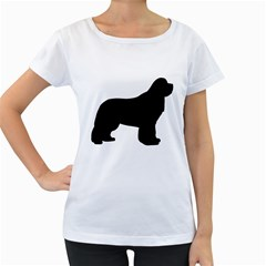 Ls Newfie Silo Black Women s Loose-Fit T-Shirt (White)