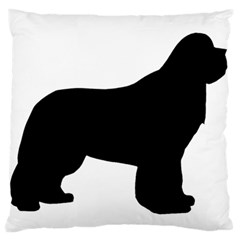 Ls Newfie Silo Black Large Flano Cushion Cases (Two Sides)