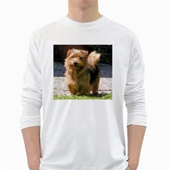 Norfolk Terrier Full White Long Sleeve T-Shirts