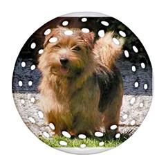 Norfolk Terrier Full Round Filigree Ornament (2Side)
