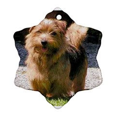 Norfolk Terrier Full Snowflake Ornament (2-Side)