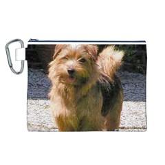 Norfolk Terrier Full Canvas Cosmetic Bag (L)