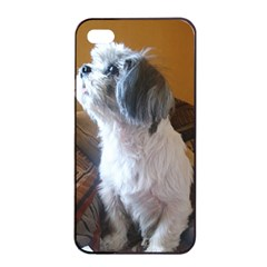 Shih Tzu Sitting Apple iPhone 4/4s Seamless Case (Black)