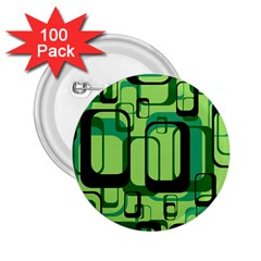 Retro Pattern 1971 Green 2 25  Buttons (100 Pack)