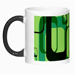 Retro Pattern 1971 Green Morph Mugs