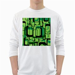 Retro Pattern 1971 Green White Long Sleeve T Shirts