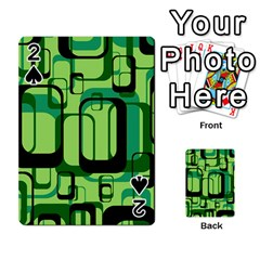 Retro Pattern 1971 Green Playing Cards 54 Designs