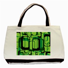 Retro Pattern 1971 Green Basic Tote Bag (two Sides)
