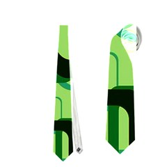 Retro Pattern 1971 Green Neckties (one Side)