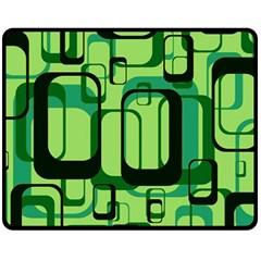 Retro Pattern 1971 Green Fleece Blanket (Medium)