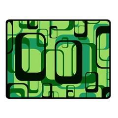 Retro Pattern 1971 Green Fleece Blanket (Small)