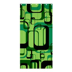 Retro Pattern 1971 Green Shower Curtain 36  X 72  (stall)
