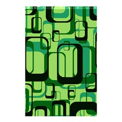 Retro Pattern 1971 Green Shower Curtain 48  x 72  (Small)