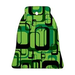 Retro Pattern 1971 Green Ornament (Bell)