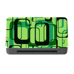 Retro Pattern 1971 Green Memory Card Reader With Cf